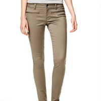 Emery Zip Twill Pants in Falcon