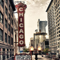 Chicago Theater Photograph by Tammy Wetzel - Chicago Theater Fine Art Prints and Posters for Sale