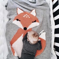 Foxy Baby Blanket in 3 colors