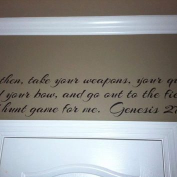 Hunt Game Genesis 27:3 Scripture Vinyl Wall Art Decal