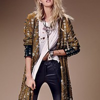 Free People Womens Crossed Coin Jacket