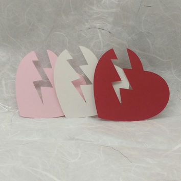 36 Red, White, Pink Striking Hearts, Scrapbooking, Embellishment, Card Making, Valentine Decoration
