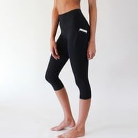 High Waisted Capris - Black