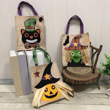 Halloween Props Handbags Child Pumpkin Witch Cat Candy Tote Bag Halloween Party Decoration Festive Ornament Halloween Decoration