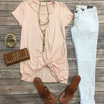 Knotted Top: Blush