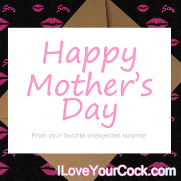 Unexpected Surprise| mother day card, funny motherday card, funny greeting card, funny card, funny blank card, sarcastic card, happy mothers