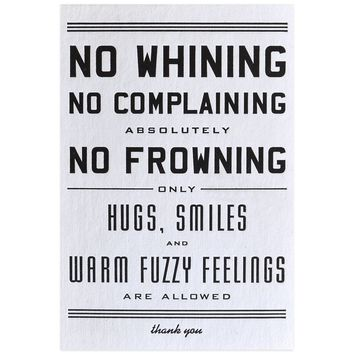 No Whining Postcard