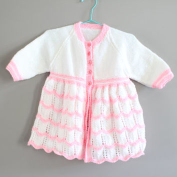 Hand Knitted Baby Cardigan Size 12 to 18 M #k004a