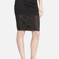 Women's ASTR Laser Cut Pencil Skirt,