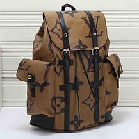 Louis Vuitton LV Woman Men Fashion Leather Hiking Travel Bag Backpack