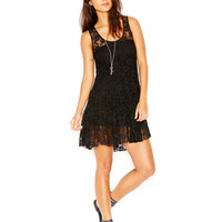 Free People Rose Lace Tiered Mini Dress