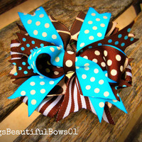 Layered Spiky HairBow by BergsBeautifulBows01 on Etsy