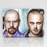 Walter White and Jesse Pinkman - Breaking Bad Fan Art iPad Case by Olechka