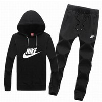DCCKJ1A Nike tide brand men and women fashion leisure suits Black