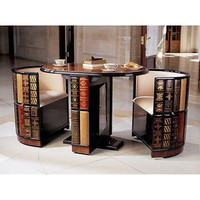 3 Piece Hand Upholstered Bar Pub Table Dining Wooden Furniture Modern Room New