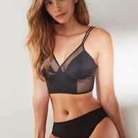 Real Daphne Geo Mesh Longline Bralette | Urban Outfitters