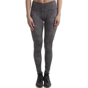 Reebok Womens Modular Yoga Fitness Athletic Leggings
