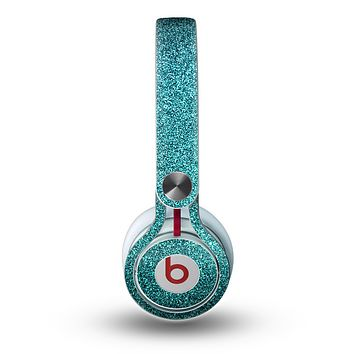 The Teal Glitter Ultra Metallic Skin for the Beats by Dre Mixr Headphones