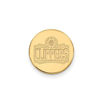 NBA 14k Yellow Gold Plated Silver Los Angeles Clippers Lapel Pin