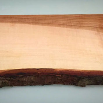 25% Off Sale***Natural Maple Live Edge Cutting/Serving Board