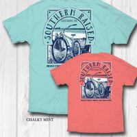 "Southern Raised ""Beach Bike"" Tee on Comfort Colors"