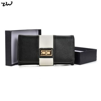2017 ZIWI Fashion Long Purse New Women Wallet For Credit Cards Pu Leather Patchwork Colour Hasp Closure  Feminina VKP1481