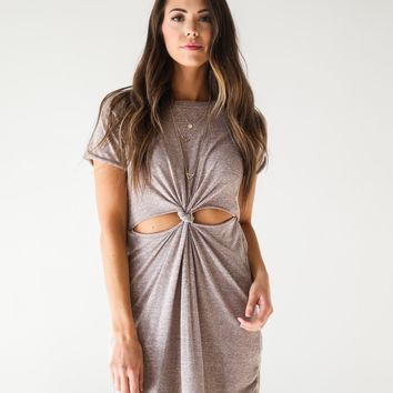 Mauve Knot Dress - Luca + Grae