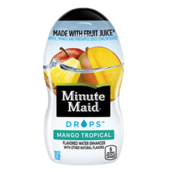 Minute Maid Mango Tropical Drops 1.9 oz Bottles - Pack of 4