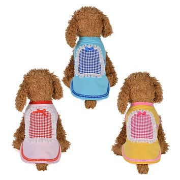 Pet Dogs Puppy Summer Cotton Cute Maid Vest Shirts Clothes Outfits Costumes