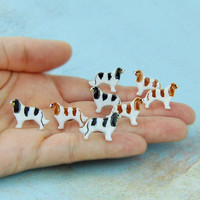 Cavalier Earrings Jewelry King Charles Spaniel Ceramic Stud