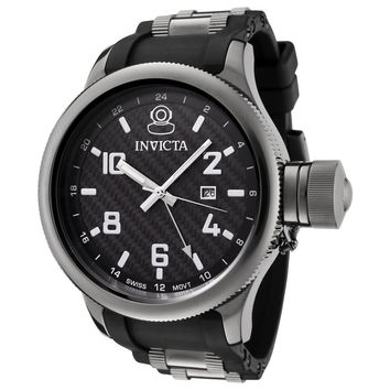 Invicta 0060 Men's Russian Diver Quinotaur Black Dial Limited Racing Edition GMT Watch