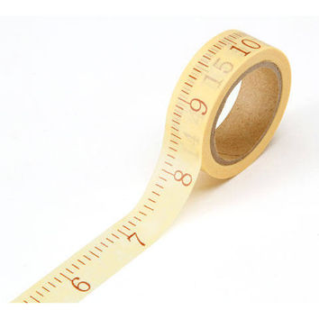 Measuring Washi Tape Washi, Sewing Washi Tape, Planner Washi, Decorative Tape, Construction Washi, Ruler washi tape