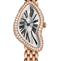 Cartier Crash Automatic Women's Watch, 18K Rose Gold, Silver Dial, WL420047