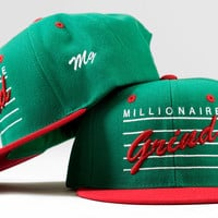 Note Snapback - (Green / White / Red)