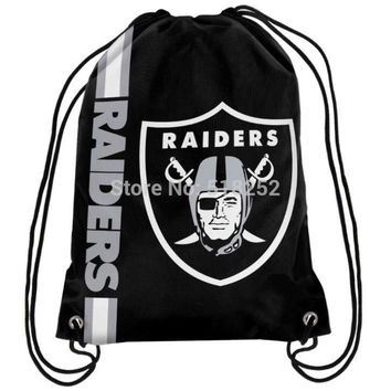 Raiders Raider Drawstring Backpack Customize Bags 35x45cm Sports Team,free shipping