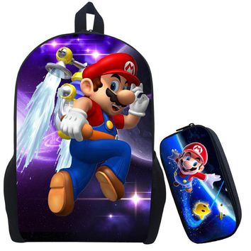 Super Mario party nes switch  2 Printing Backpack Children Cartoon Sonic Backpacks Boys Girls School Bags For Kindergarten Daily Backpack Book Bag AT_80_8