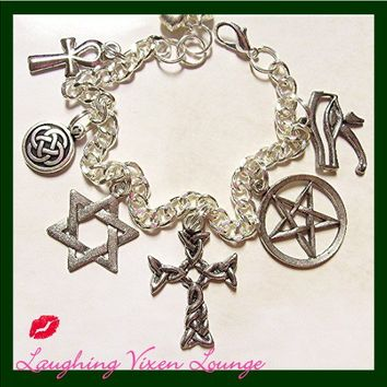 "Supernatural Protection Charm Bracelet - Style ""MW"""