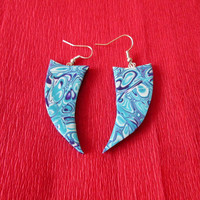 turquoise polymer clay earrings,polymer clay jewelry,boho earrings,summer earrings,affordable earrings,gift for her,hippie earrings,blue