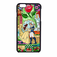 Rose Beauty And The Beast Disney Stained Glass iPhone 6 Case