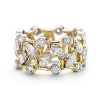 Tiffany & Co. -  Schlumberger Vigne ring in 18k gold with diamonds.