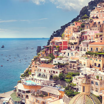 Positano coast photo print 13x18 summer landscape