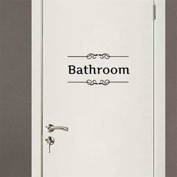bathroom shower room door Entrance Sign stickers decoration wall decals For Shop Office Home Cafe Hotel