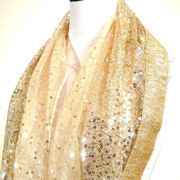 Sparkling Champagne Infinity Scarf