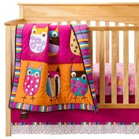 Zutanoblue Owl Brights 4 Pc Crib Bedding From Target