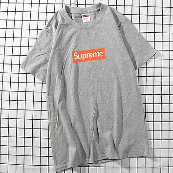 Trendsetter Supreme Women Man  Fashion Cotton  Short Sleeve Shirt Top Tee