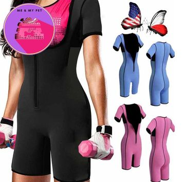 Palicy Sweat Hot Slimming Neoprene Suit With Sleeves Body Shapers For Weight Loss Sauna Workouts Fajas Shapewear with Trimmer