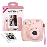 Fujifilm Instax Mini 8 N (Pink) with Original Strap Set Instax Camera (Japan Import) - INS MINI 8 PINK NI