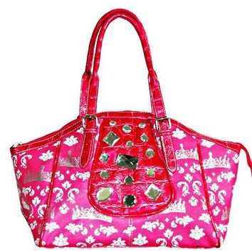 Crown Print Hobo Bag