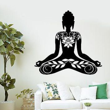 Wall Sticker Buddha Meditation Mantra Zen Yoga Vinyl Decal Unique Gift (z2893)