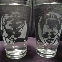 SNL Dick in a Box 16 oz Glasses- Set of 2